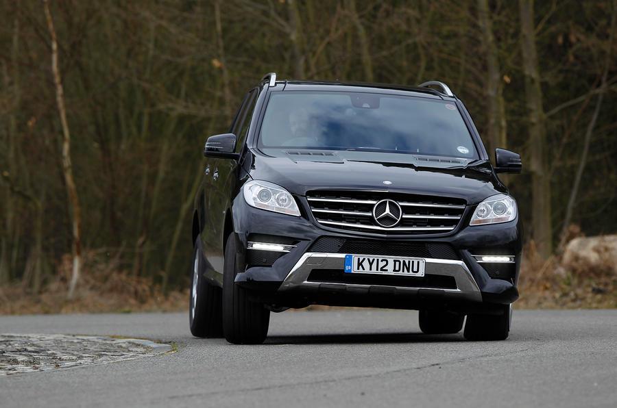 Mercedes-Benz M-Class cornering
