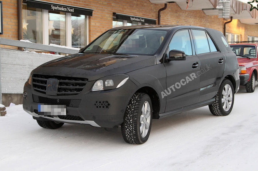 Next Mercedes ML - new pics
