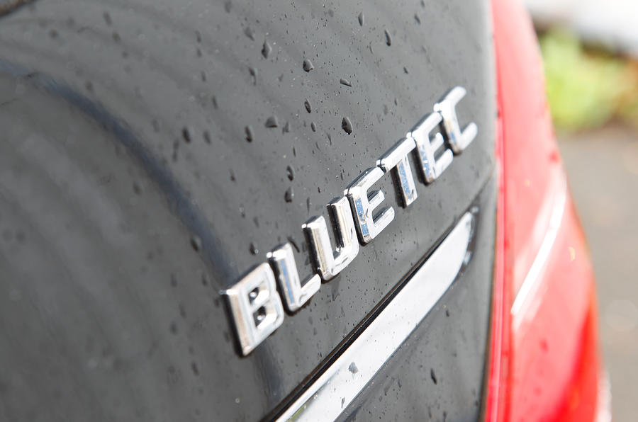 Mercedes-Benz S-Class Bluetec badging