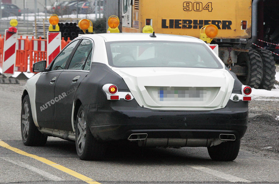 New Mercedes S-class spied