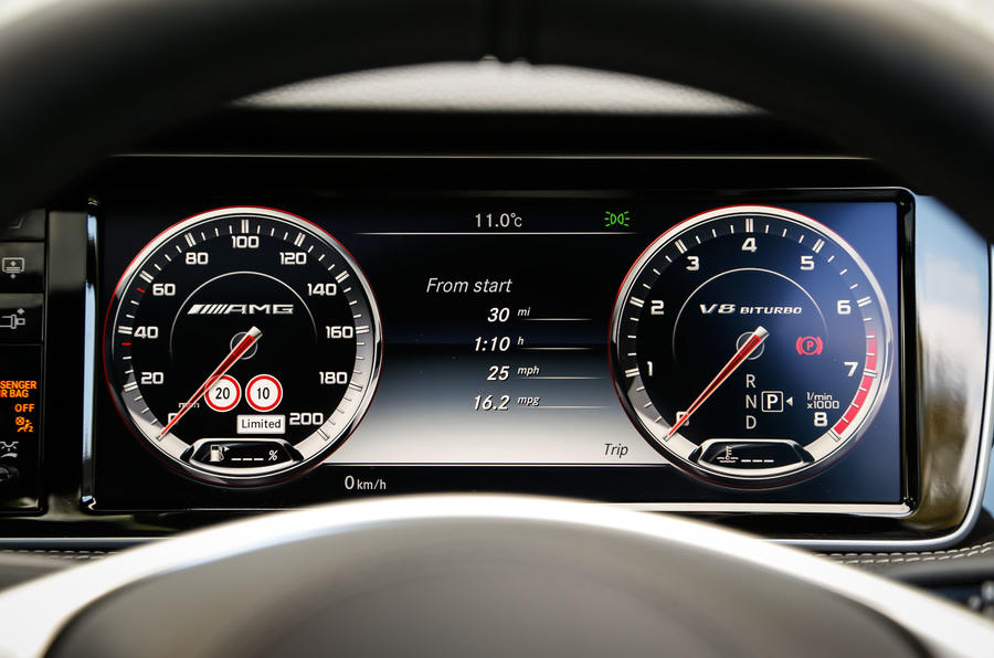 Mercedes-AMG S 63 Coupé digital instrument cluster