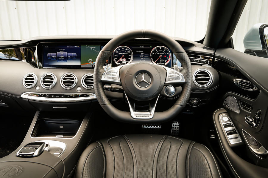 The view from the driver's seat of the Mercedes-AMG S 63 Coupé