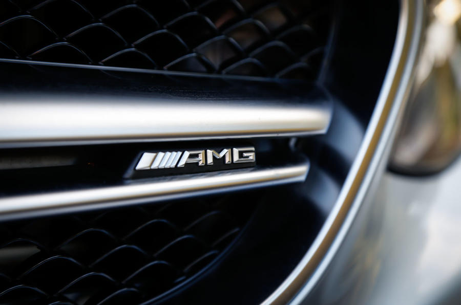 The twin-bladed grille differentiates the Mercedes-AMG S 63 Coupé to the Mercedes-Benz S500