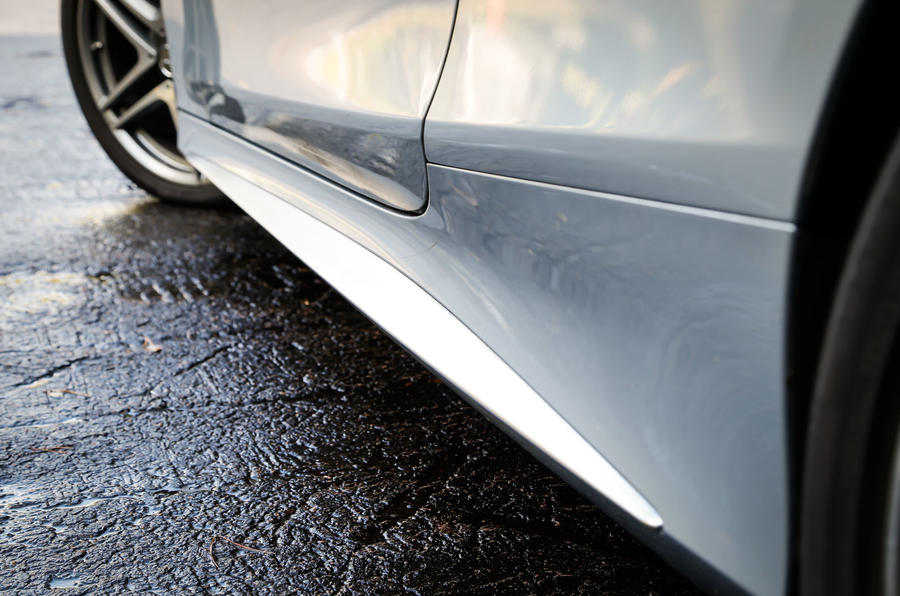 Deeper sills help the Mercedes-AMG S 63 Coupé look lower to the ground