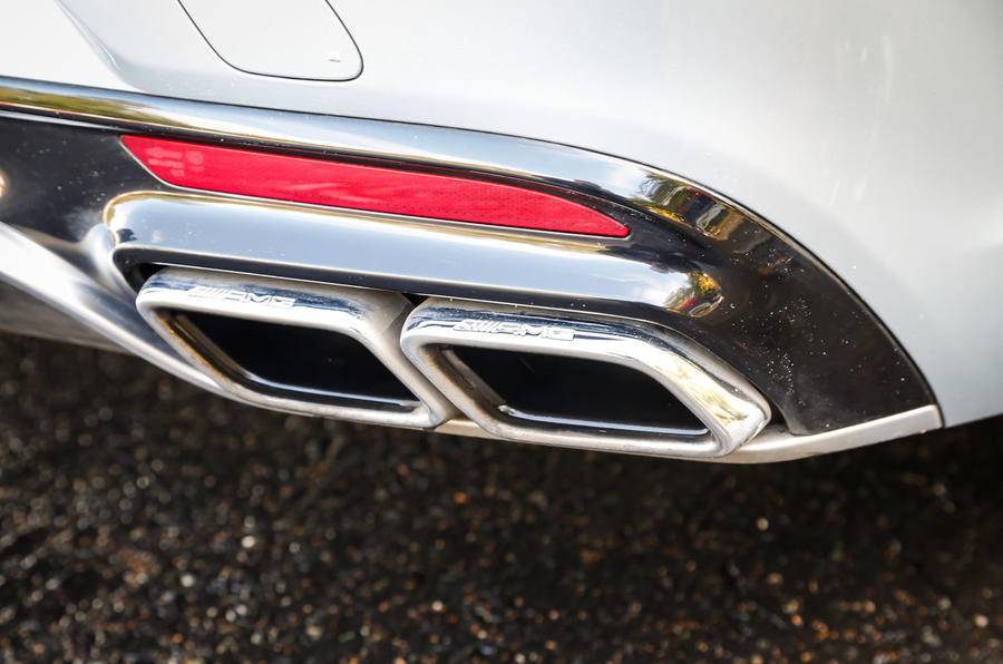Quad-piped exhausts gives the Mercedes-AMG S 63 Coupé's V8 what it deserves