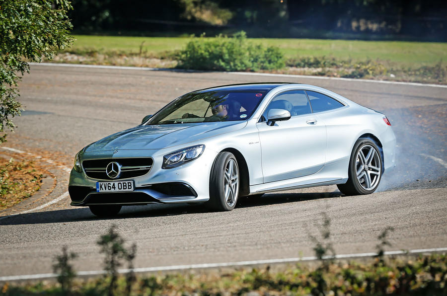 The Mercedes-AMG S 63 Coupé struggle for composure on the B-roads, when pushed