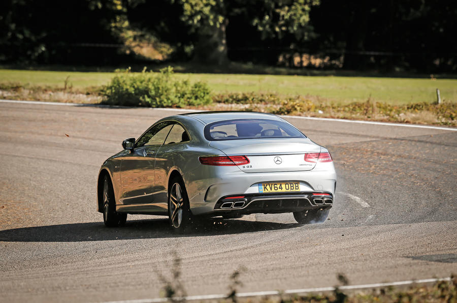 The Mercedes-AMG S 63 Coupé comes with Magic Body Control technology...