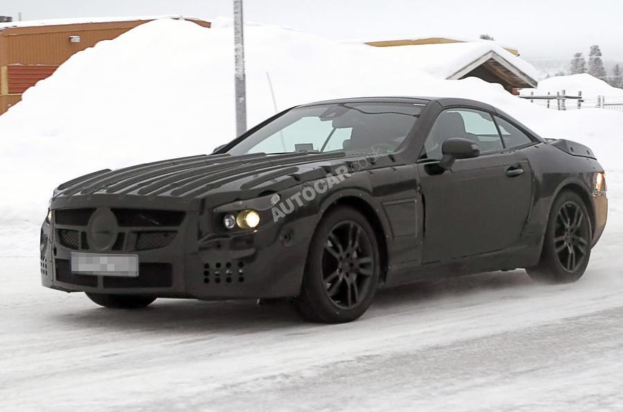 Next Mercedes SL spied