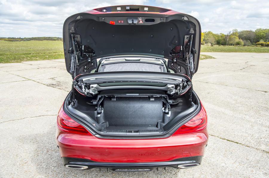 Mercedes-Benz SL boot space