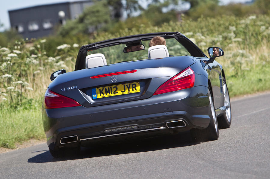 Mercedes-Benz SL rear cornering