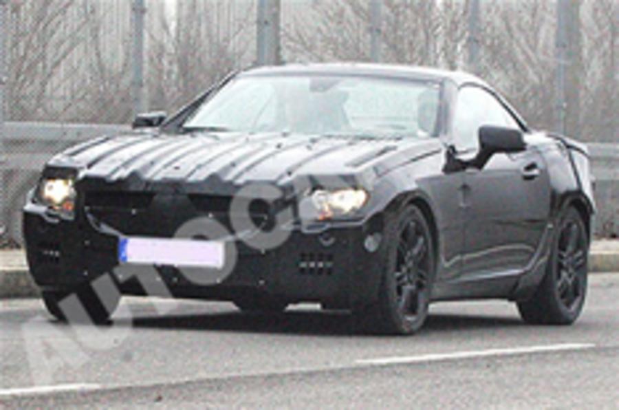 New Mercedes SLK spied