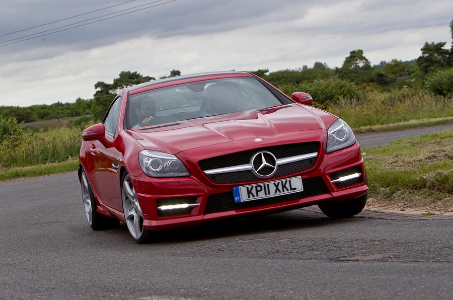 Mercedes-Benz SLK cornering