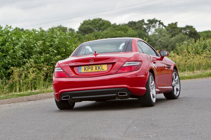 Mercedes-Benz SLK rear cornering