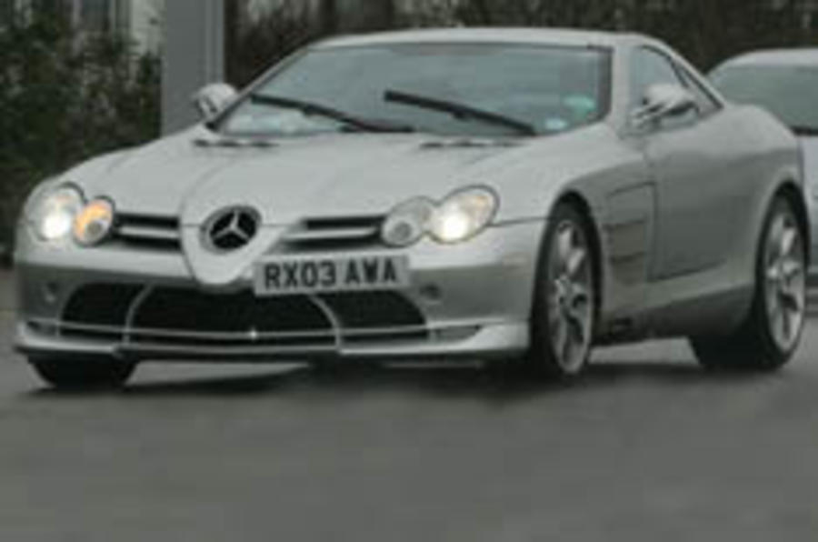 Hotter Merc SLR caught testing