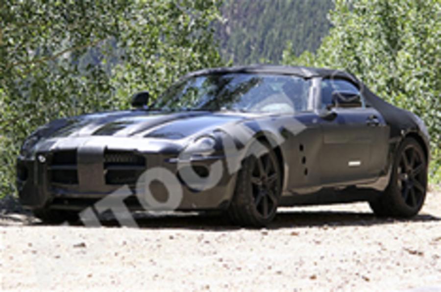 Mercedes SLS convertible spied
