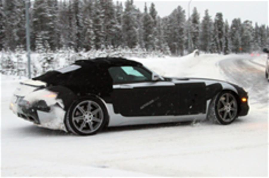 Mercedes SLS roadster spied