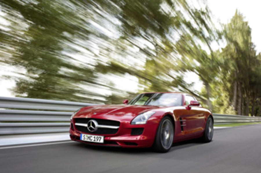 Video: Merc SLS driven at Goodwood