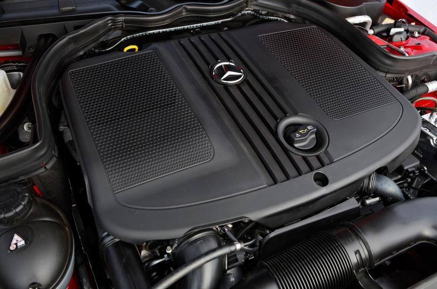 Mercedes-Benz C-Class engine bay
