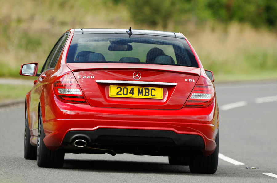 Mercedes-Benz C-Class rear cornering