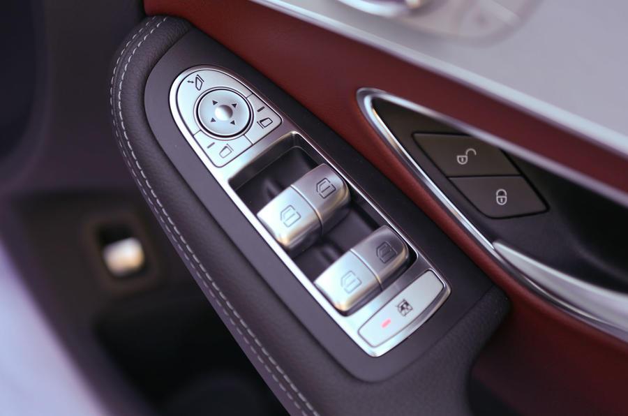 Mercedes-Benz C-Class driver's door card