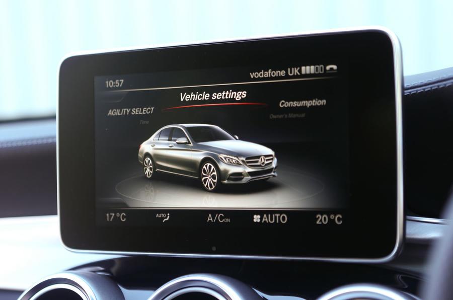 Mercedes-Benz C-Class infotainment screen