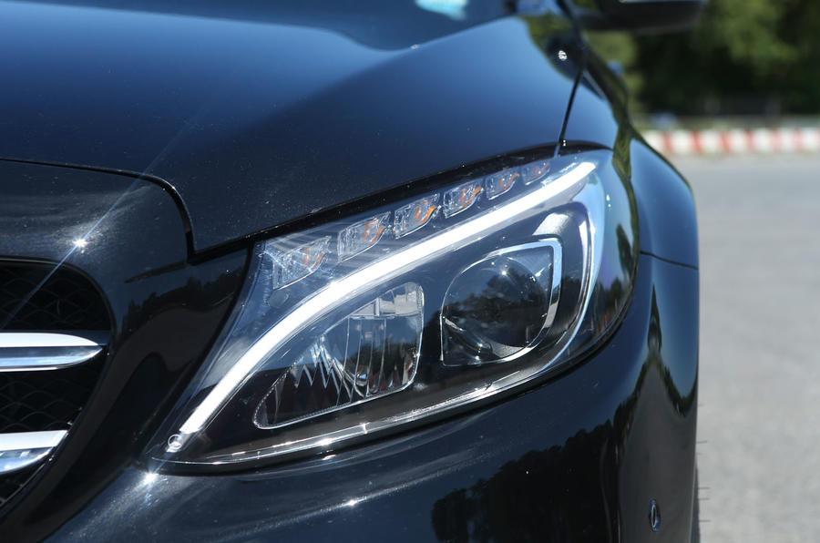 Mercedes-Benz C-Class LED headlights