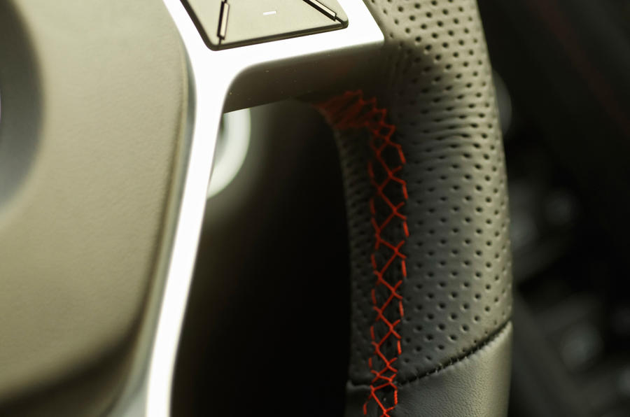 Mercedes-Benz C-Class red stitching