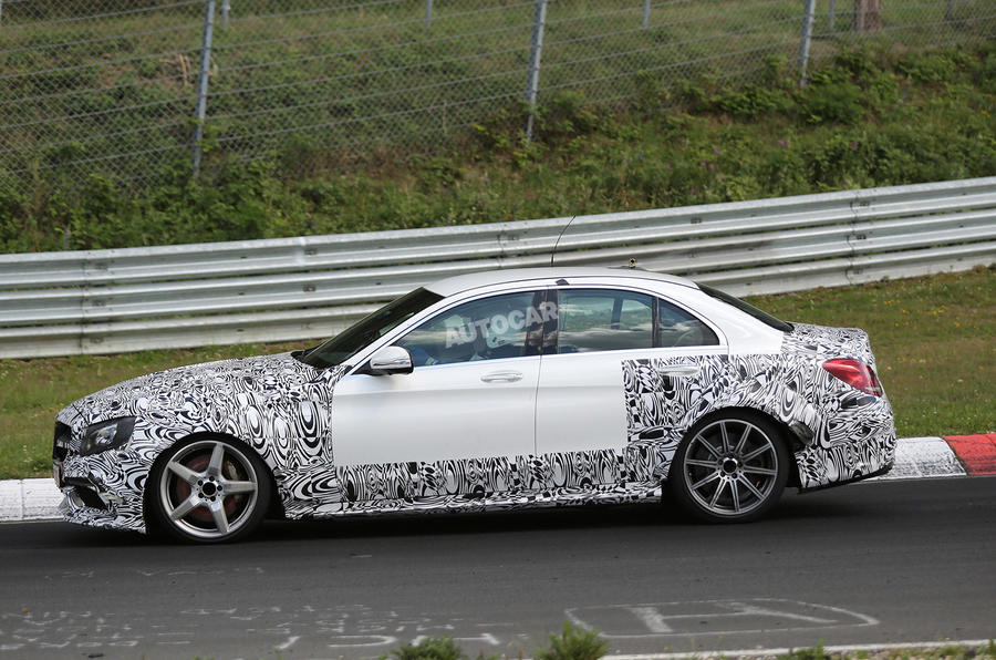 Mercedes starts early testing on new C63 AMG coupe