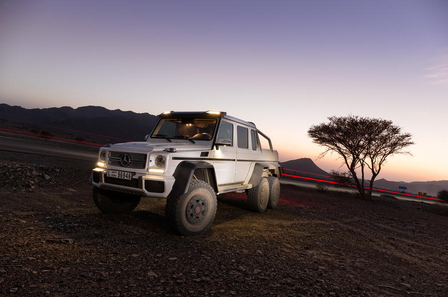 The 6.3-litre Mercedes-AMG G 63 6x6 produces 536bhp