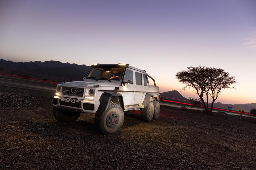 The 6.3-litre Mercedes-AMG G 63 6x6 produces 536bhp