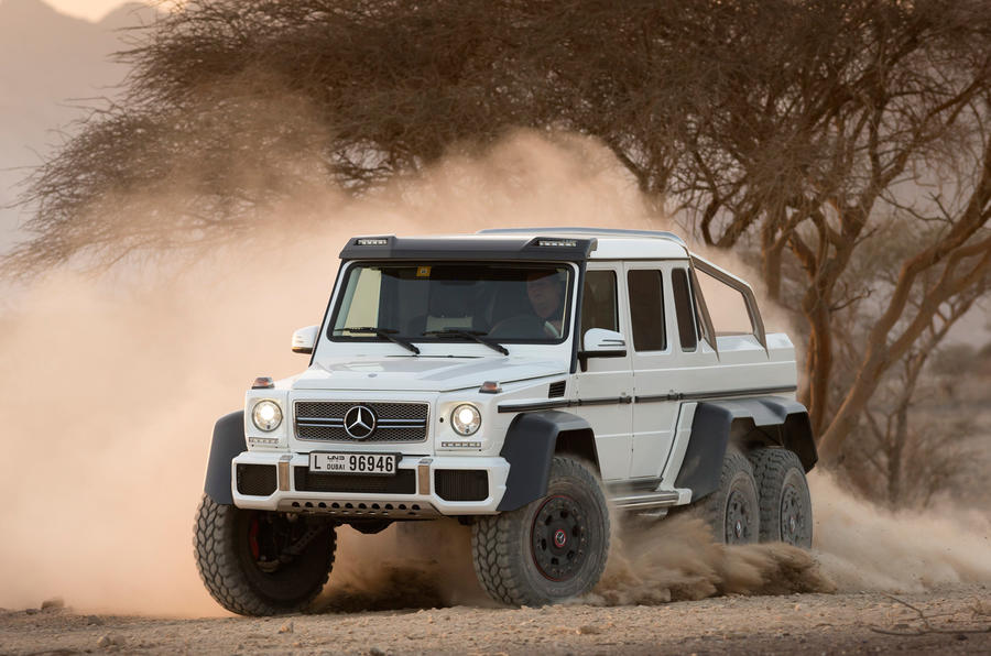 The Mercedes-AMG G 63 6x6 can happily sit at motorway speeds