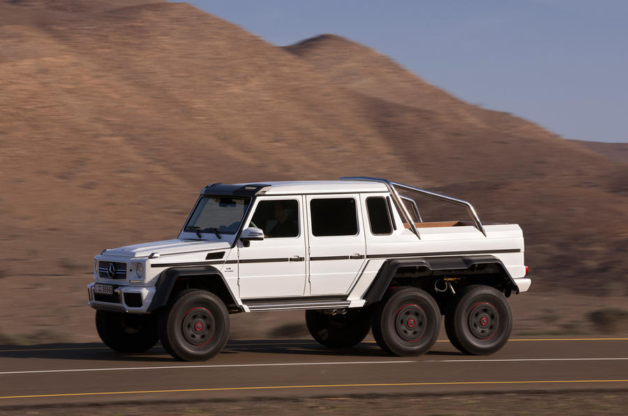 Mercedes amg g 63 6x6 review 2017 autocar for Mercedes benz g class 6x6 price