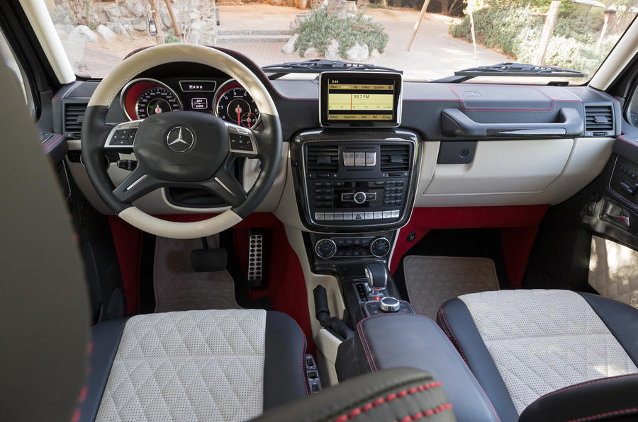 The driver's view from the Mercedes-AMG G 63 6x6