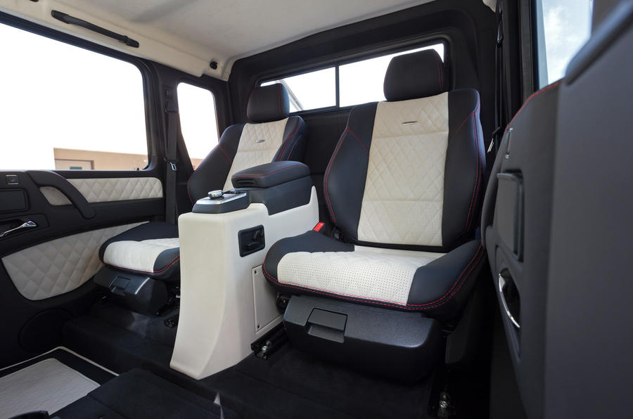 The rear seats in the Mercedes-AMG G 63 6x6