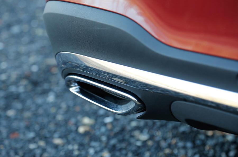 Mercedes GLC chrome exhaust pipes