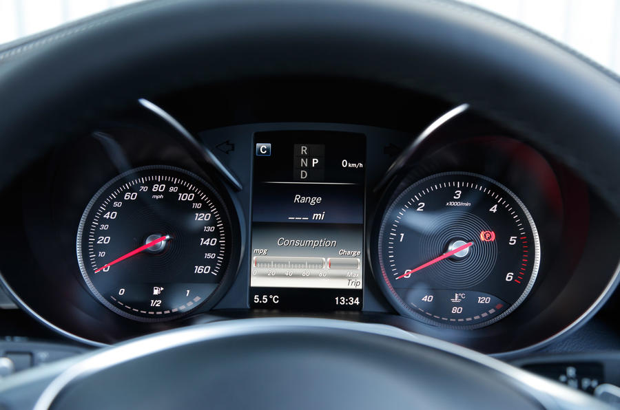 Mercedes-Benz GLC instrument cluster