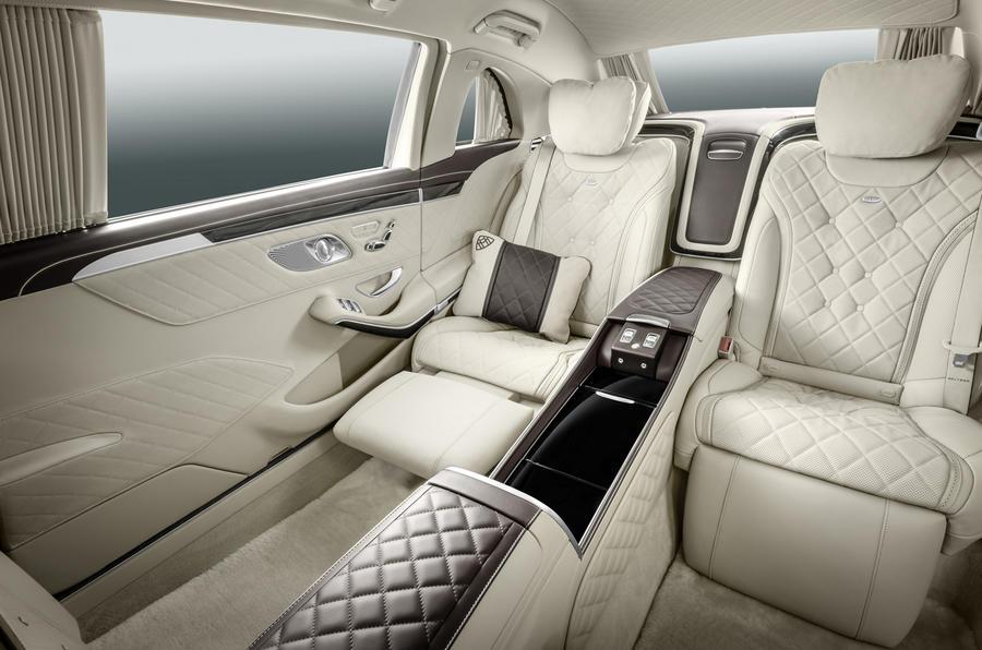 Mercedes-Maybach S 600 rear lounge seats