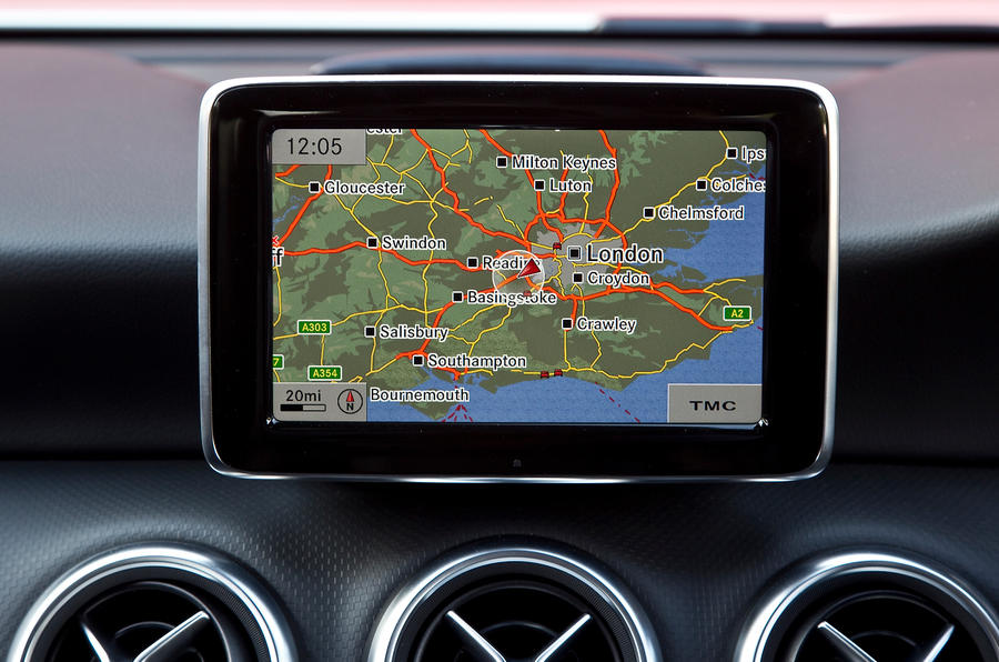 Mercedes-Benz A-Class infotainment screen