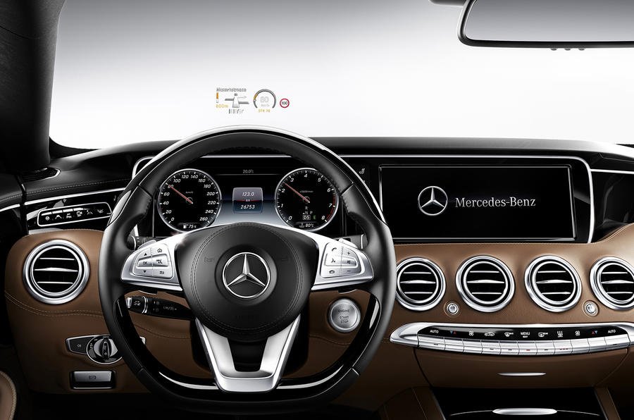 the s class coupe keeps the digital instrument cluster display of the