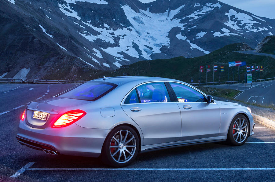 Mercedes-Benz S 63 AMG at night