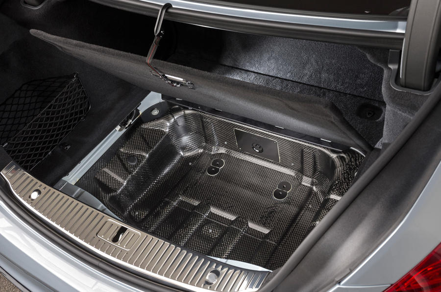Mercedes-Benz S 63 AMG under boot storage