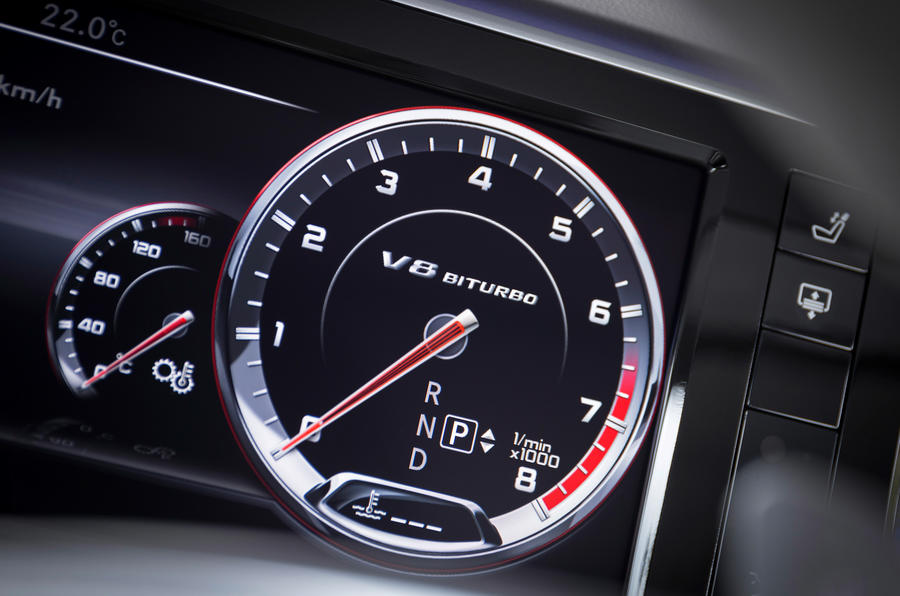 Mercedes-Benz S 63 AMG rev counter