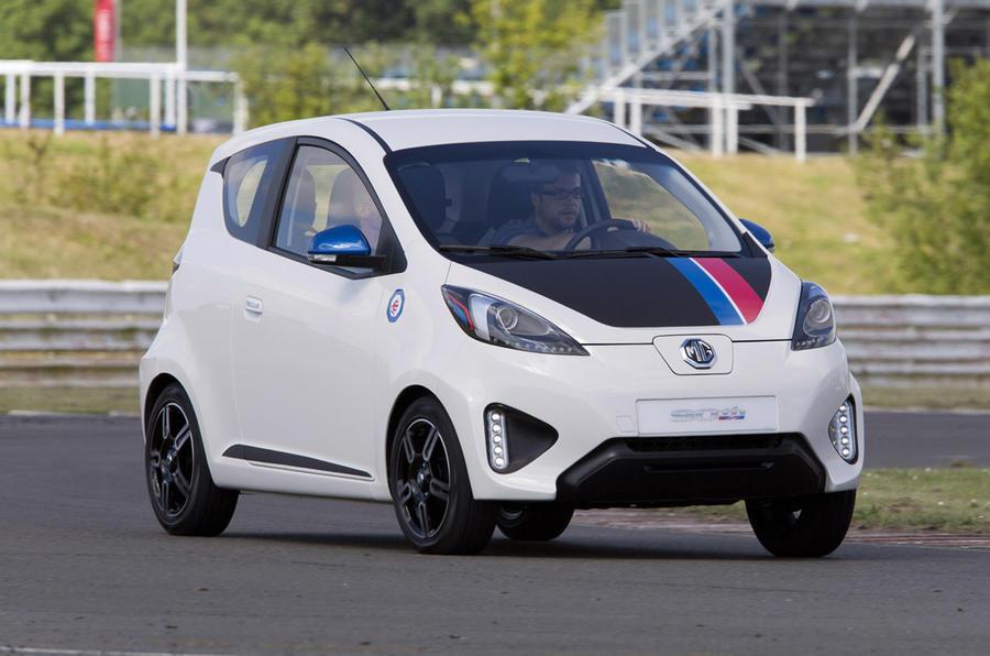 MG EV concept cornering
