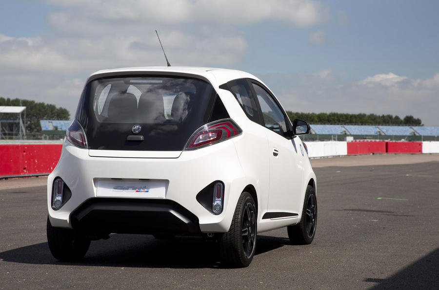MG EV concept rear corner