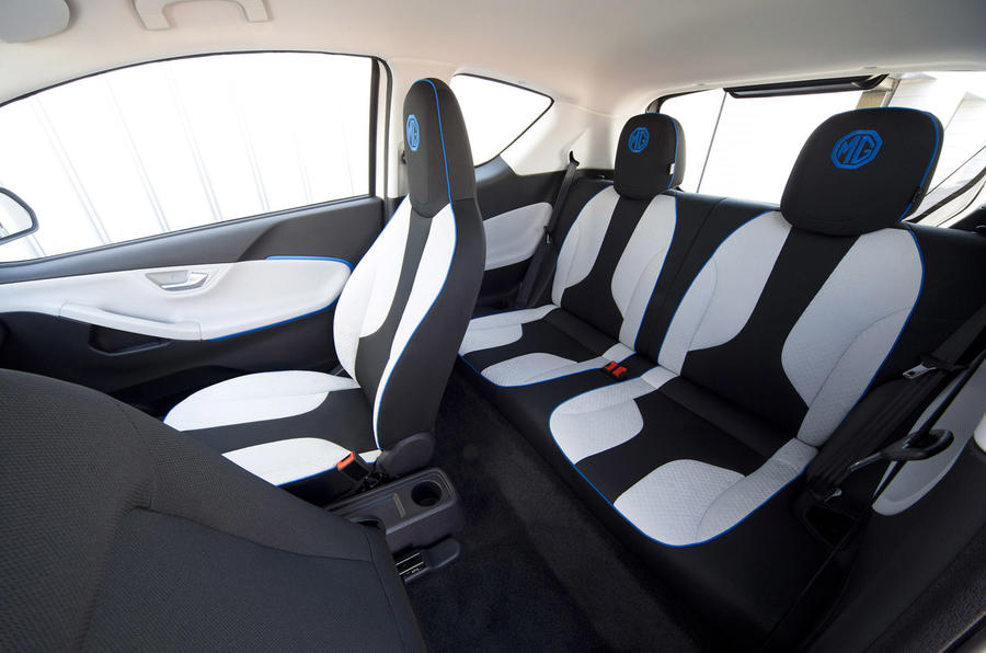 MG EV concept rear seats