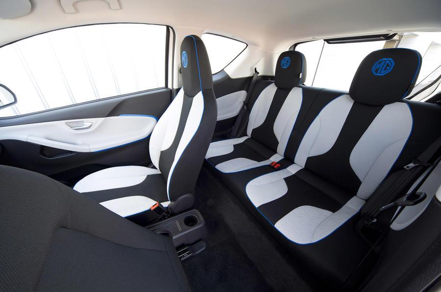 MG EV concept rear seats
