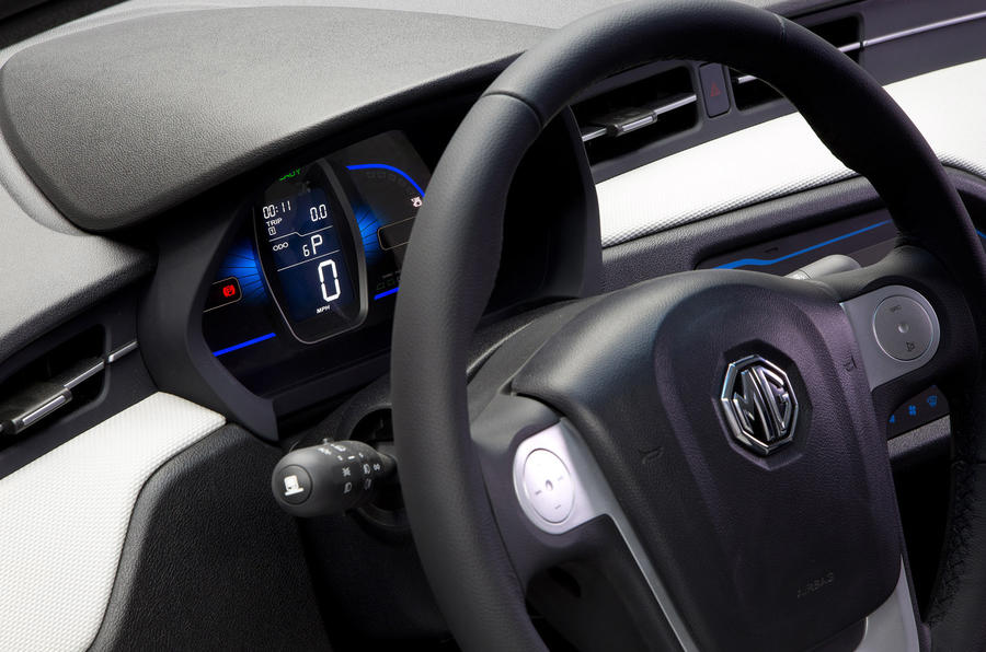 MG EV concept steering wheel