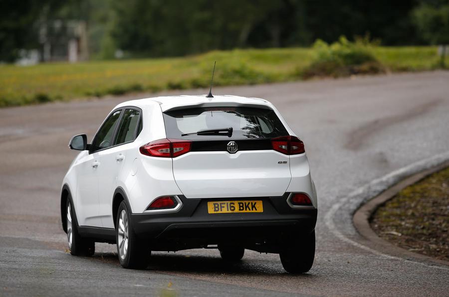 MG GS rear cornering