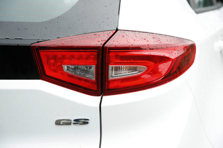 MG GS rear lights