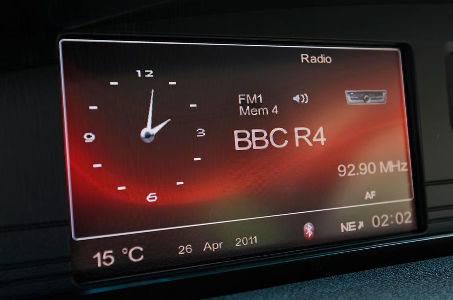 MG 6 infotainment system